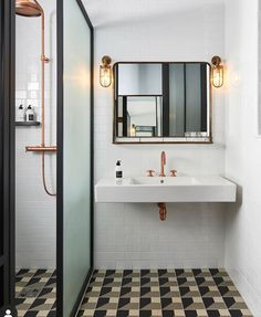 Bathroom Inspiration - Refreshed Vintage & Industrial Mix Bathroom The Hoxton Paris Hotel by Humbert et Poyet – Shop the inspiration styleThe Hoxton Paris Hotel Bathroom Design, Bathroom Trends, Modern Bathroom Design, Bathroom Interior, Hotel Bathrooms, Paris Bathroom, Luxury Hotel Bathroom, Tiled Bathrooms, Bad Inspiration