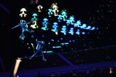 London Olympics opening ceremony  Ah the tribute to Bowie and Queen and 70's Brit pop