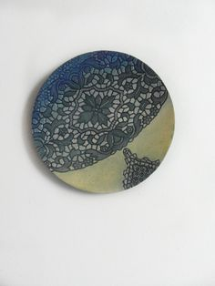 Kunst Wand Skulptur moderne Keramik Teller Projekt von KunstLABor
