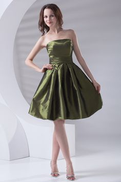 Refined Taffeta A-line Cheap Wholesale Bridesmaid Dress