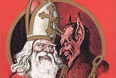 St. Nick brings the gifts, and Krampus brings the pain.  http://mentalfloss.com/article/71999/9-facts-about-krampus-st-nicks-demonic-companion