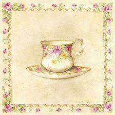 Coffee and Tea - Carla Simons - Picasa Web Albums Vintage Diy, Vintage Paper, Vintage Images, Tea Art, Illustrations, Vintage Prints, Vintage Artwork, Painting On Wood, Altered Art
