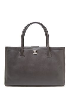 Chanel Graphite Grey Caviar Cerf Executive Tote Bag $3650 Vintage on a Gilt