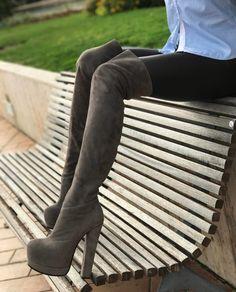 Suede high heel boots Yarose Shulzhenko