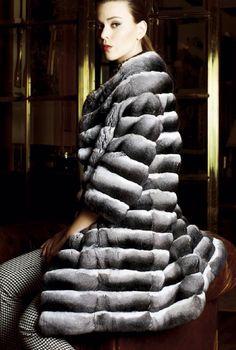 Chinchilla Fur Coat  #fur #luxury #fashion