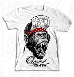 NEW! Original Black Monkey Havok T Shirt White  Our Price: $28.00  Sale Price: $19.99   #Introducing #OriginalBlack #new #paint #original #artist #Tattoo #design #Artwork creation now #available at #cluburban.com #freeshipping #onSALe #SALE