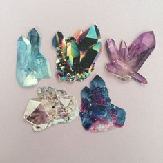 A set of 5 crystal stickers!  Stickers measure approx. 1.5 in size.