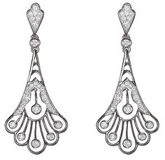 Sparks Art Deco earrings courtesy of Hales Jewelers