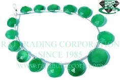 Gemstone Beads, Green Onyx Faceted Coin Semiprecious Stone Beads, (Quality A+) / 9 to mm / 18 cm / by beadsogemstone on Etsy Semi Precious Beads, Semi Precious Gemstones, Bead Store, Green Onyx, Gemstone Beads, Turquoise Bracelet, Beadwork, Etsy, Smooth