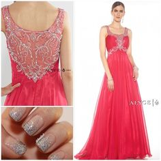 """""""It's all about the fun backs this year! #alyce #alyceparis #alyceparisprom #prom #prom2k15 #promdresses #pageant #pageantdress #formal #nails #sparkle…"""""""