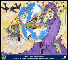 Merit Award Winner, Christian Varisco, from Italy (Contarina Delta Po Lions Club) - 2013-2014 Lions Clubs International Peace Poster Contest