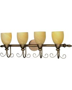 Nuvo Lighting 60-152 Vanguard Collection Four Light Bath Vanity Wall Fixture in Flemish Gold Finish
