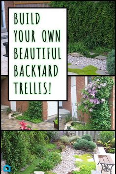 Brilliant! I have GOT to do this to hide my neighbor's ugly fence.  Create beautiful backyard privacy with a DIY trellis. Your neighbors will thank you! (ad)