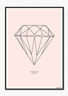 DIAMOND POSTER ROSA 50*70 CM via MADE BY U - democratic design. Click on the image to see more!