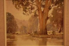 A Winters Day The Yarra at Launching Place… by Frank Mutsears...
