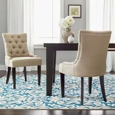 Shop for Safavieh En Vogue Abby Linen Dining Chairs (Set of 2). Get free shipping at Overstock.com - Your Online Furniture Outlet Store! Get 5% in rewards with Club O! - 14191539
