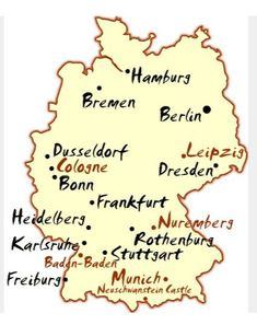 Germany Travel Map Frankfort, intermediate stop to ski in Switzerland. Discovered in bio-mother; learned her family left Bremen Subsequently, visited Germany on spa & genealogical trip, including Bremen & many other sites as photo-journalist. Bremen Germany, Frankfurt Germany, Visit Germany, Germany Travel, Neuschwanstein, Travel Maps, Travel Destinations, Best Cities, Plan Your Trip