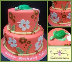 Pin Girl Hawaiian Flowers Cake Toppers Set Includes 1 Hula 10 On