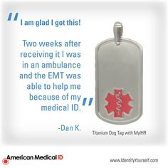 #MedicalIDs really can save lives!