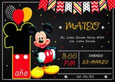 invitación mickey 2nd Birthday, Baby Shower, Invitations, Party, Ideas, Fiesta Mickey, Mickey Mouse Template, Mickey Mouse Invitation, Fiesta Mickey Mouse
