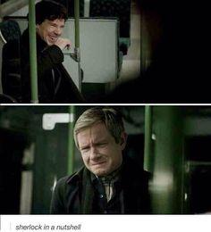 Sherlock in a nutshell.  Series 3 Episode 1 - The Empty Hearse - 1st January 2014.