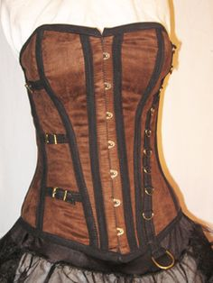 4969c678f5c Full coverage corset but made from jacquard or brocade with velvet taping.  Historical Women