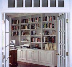 Custom Made Custom Built-In Library/Home Office