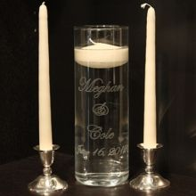 I love this but maybe with different color candles-found the vase on etsy and candle holders to match at a local store