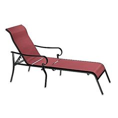Indoor / Outdoor Oversized Adjustable Sling Chaise Reclining Patio Lounge Chair