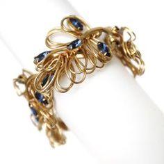 Napier Blue & Gold Bracelet