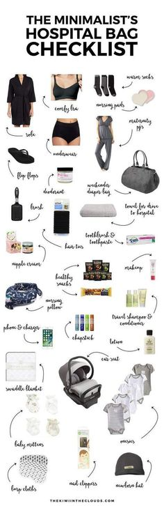 Hospital Bag Checklist Newborn Advice Pregnancy Tips Getting Ready For Baby, Preparing For Baby, Baby Checklist, Hospital Checklist, Hospital Packing Lists, Hospital List, Baby Planning, Everything Baby, Baby Time