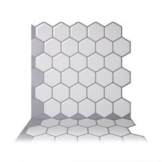Tic Tac Tiles Hexa Mono White 10 in. W x 10 in. H Peel and Stick Self-Adhesive Decorative Mosaic Wall Tile Backsplash - The Home Depot Stick On Kitchen Backsplash, Easy Backsplash, Kitchen Tile, Kitchen Reno, Kitchen Ideas, Self Adhesive Backsplash, Adhesive Tiles, Peel And Stick Tile, Stick On Tiles