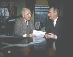 Pres~~Harry Truman with Dean Acheson Date,January 01, 1949❀♡✿♡❁♡✾♡✽♡❃♡❀♡✿♡✿ http://en.wikipedia.org/wiki/Harry_S._Truman https://www.trumanlibrary.org/