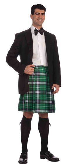 St. Patricks Man outfit with green kilt