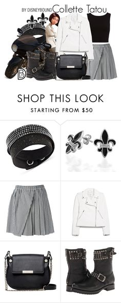 """""""Collette Tatou"""" by leslieakay ❤ liked on Polyvore featuring Swarovski, Bling Jewelry, N°21, MANGO, French Connection, Frye, disney, disneybound and disneycharacter"""