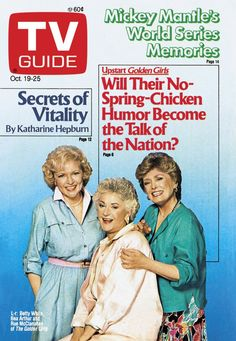October 19, 1985. Betty White, Bea Arthur, and Rue McClanahan of The Golden Girls.