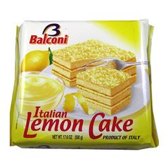 Italian Lemon Cake, Balconi Dolciaria, Milan, Italy.