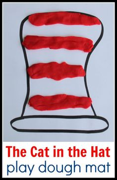 We love Dr. Seuss and play dough so this Cat in the Hat play dough mat is so much fun! It's such an easy way to get kids excited about making math patterns that I made a free printable for you to use too.