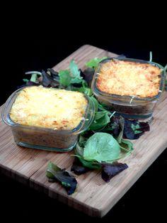 poivre, purée, oeuf, Viandes, tomate, farine, oignon, beurre, ail, parmesan, sel, herbes de provence, fromage râpé