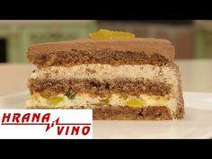 hrana i vino rs Baking Recipes, Cookie Recipes, Posne Torte, Macedonian Food, Torte Cake, Vanilla Cake, Tiramisu, Deserts, Torte Recipe