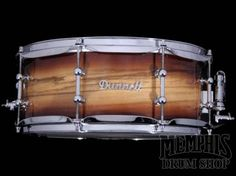 Dunnett Classic 14 x 5.5 MonoPly Zebrawood Snare Drum - Wet Lacquer
