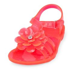 74e1c451a6b Baby Girls Toddler 3D Flower Jelly Sandal - Pink Sandals - The Children s  Place Pink Sandals