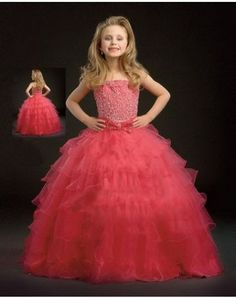 Hot Sell A-Line/Princess Floor-Length Organza Satin Flower Girl Dress with Lace Beading (010002153)