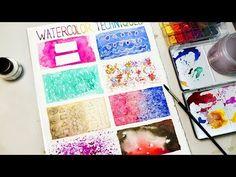 초보자도 쉽게 배우는 기초 수채화 테크닉 Watercolor Techniques - YouTube