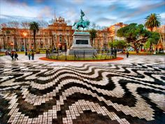 Plaza San Martín - Ciudad de Rosario - Argentina