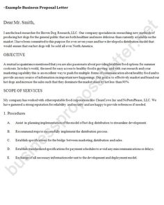 How To Write Business Proposal Letter Simple Business Proposal Letter Businessproposa On Pinterest