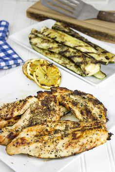 Easy Lemon Grilled Chicken is marinated for a short time and grilled. Perfect for a weeknight.