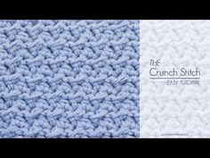 Hopeful Honey | Craft, Crochet, Create: How To: Crochet The Crunch Stitch - Easy Tutorial