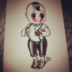 skinhead boy flash art
