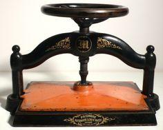 Antique Cast Iron Bookbinding Press